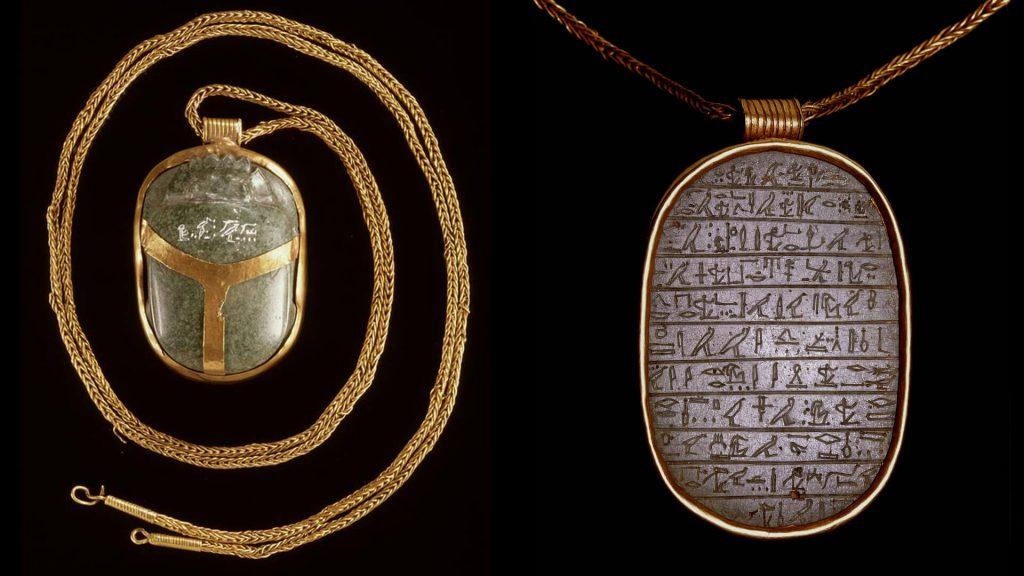 hart scarabee uit het oude Egypte